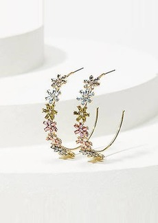 LOFT Flower Hoop Earrings