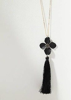 LOFT Flower Tassel Pendant Necklace