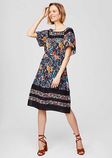 LOFT Flowerbed Flare Dress
