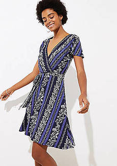 LOFT Flowering Vine Wrap Dress