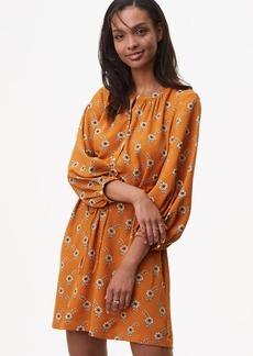 Flowery Blouson Shirtdress