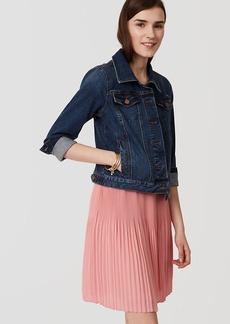 LOFT Fluid Pleated Skirt