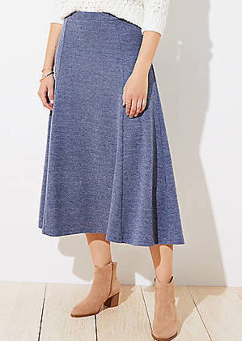 LOFT Fluted Pull On Midi Skirt