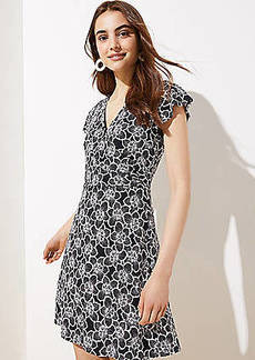 LOFT Flutter Wrap Dress