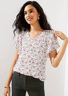 LOFT Foliage Flutter Top