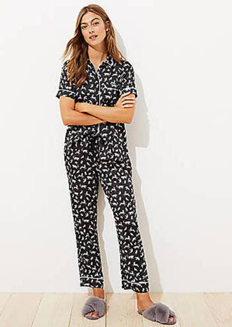 LOFT Forest Animal Pajama Set
