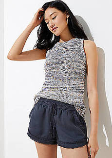 LOFT Frayed Drawstring Shorts