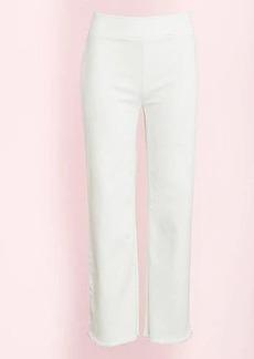 LOFT Frayed High Waist Flare Crop Pants