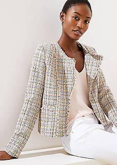 LOFT Frayed Tweed Jacket