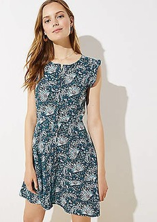 LOFT Fresh Floral Button Down Flutter Dress
