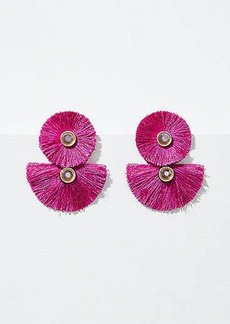LOFT Fringe Double Drop Earrings