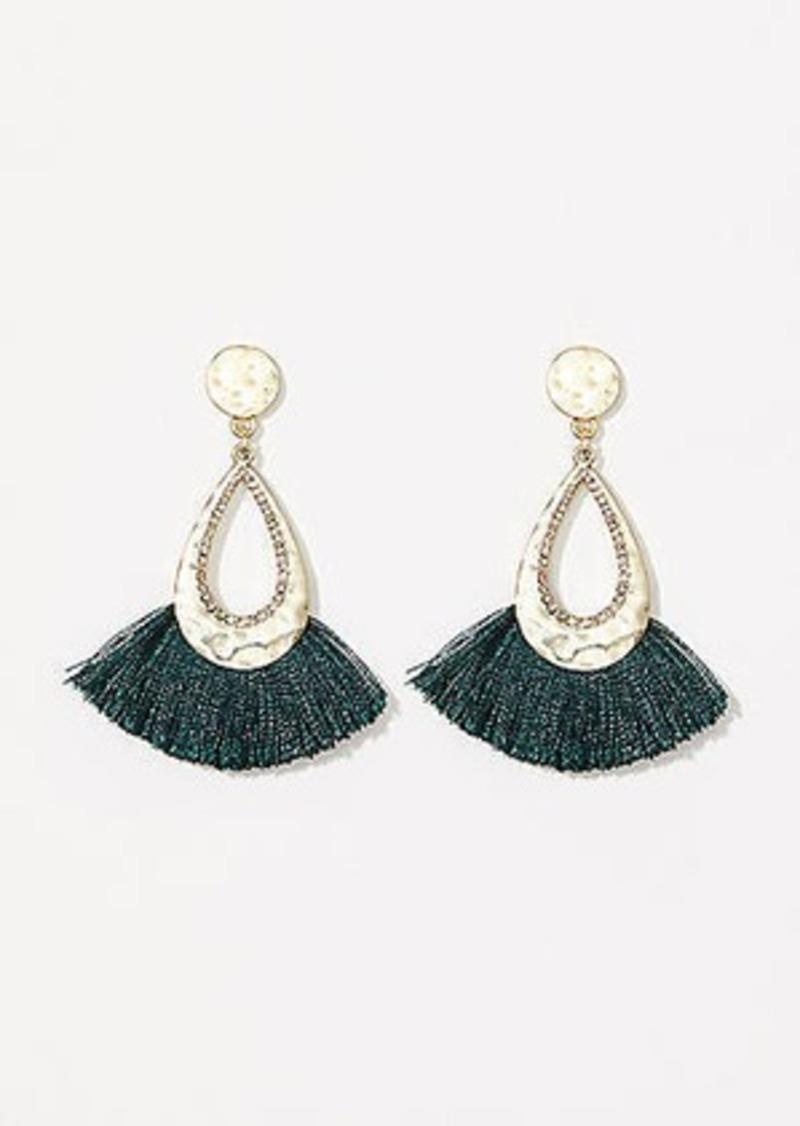 LOFT Fringe Drop Earrings