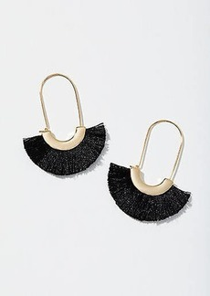 LOFT Fringe Fan Drop Earrings