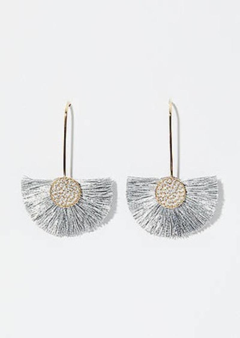 LOFT Fringe Fan Drop Earrings