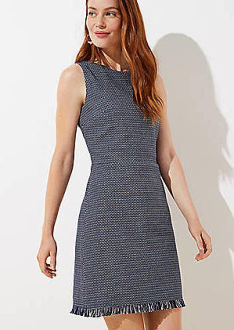 LOFT Fringe Hem Sheath Dress