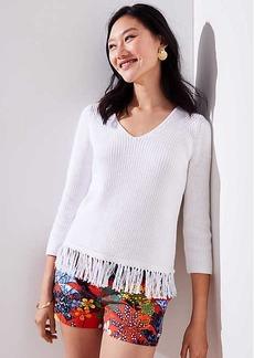 LOFT Fringe Hem Sweater