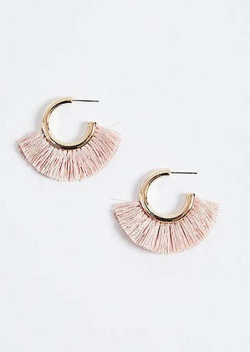 LOFT Fringe Hoop Earrings