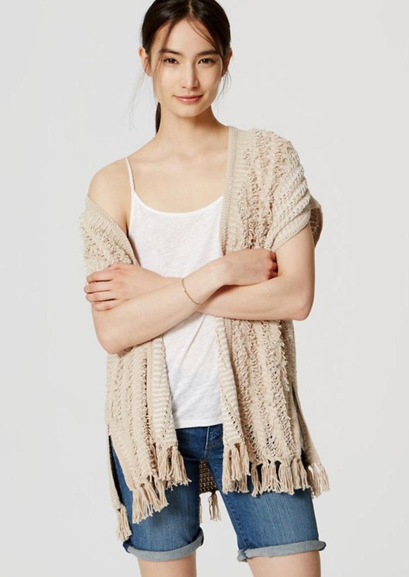 LOFT Fringe Poncho Sweater
