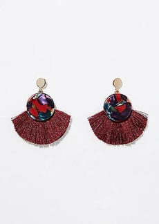 LOFT Fringe Resin Drop Earrings