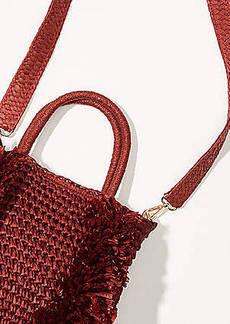 LOFT Fringe Straw Crossbody Bag
