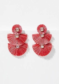 LOFT Fringe Triple Drop Earrings