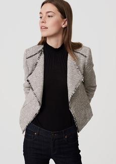 LOFT Fringe Tweed Jacket
