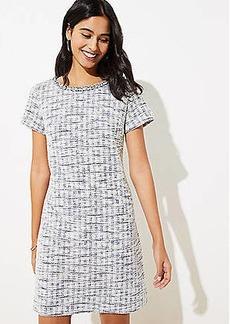 LOFT Fringe Tweed Shift Dress