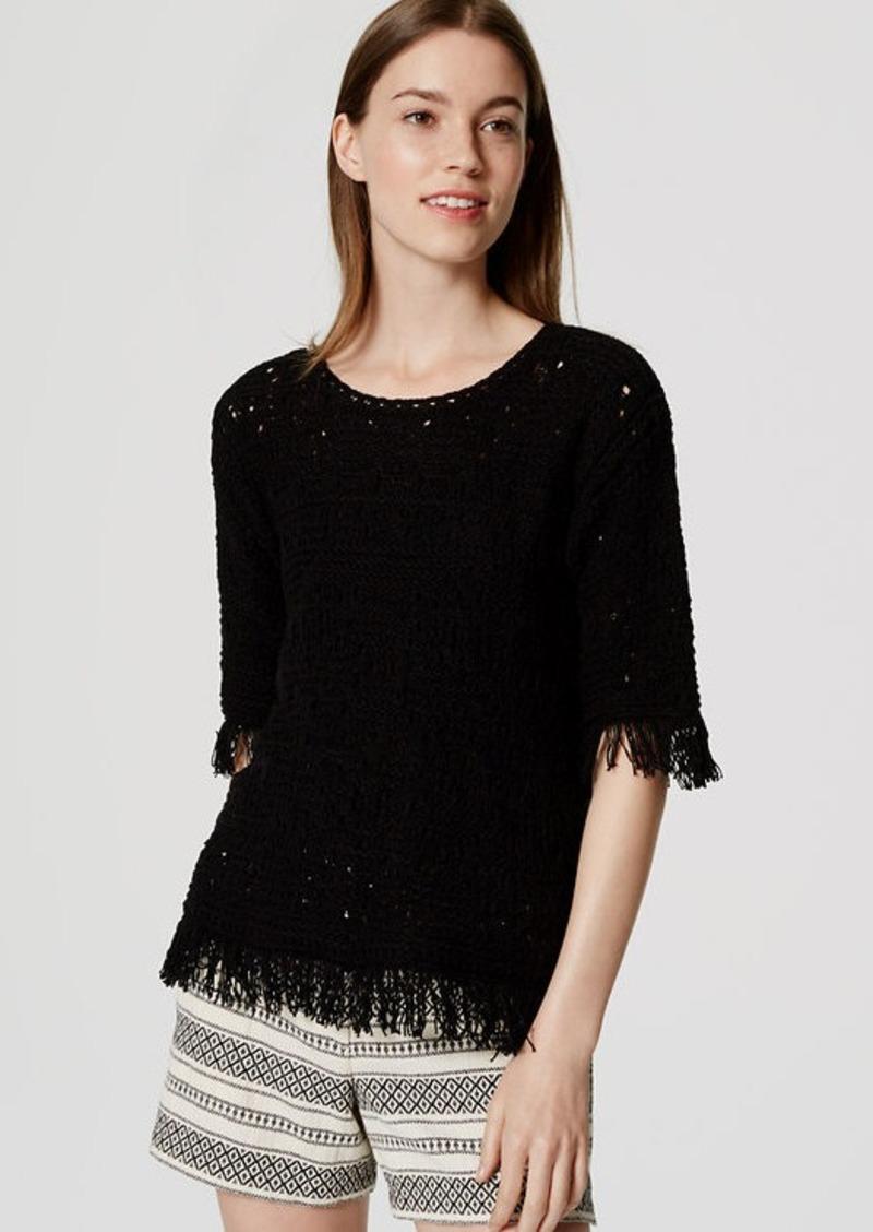 LOFT Fringed Summer Sweater