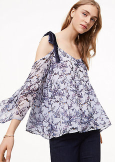 Frosted Branch Cold Shoulder Top