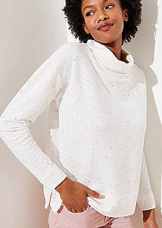 LOFT Funnel Neck Sweatshirt