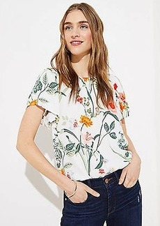 LOFT Garden Button Back Flutter Top