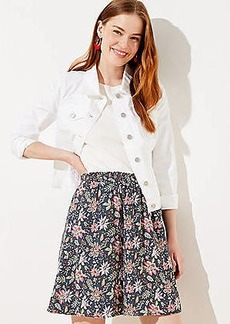 LOFT Garden Fluid Pocket Skirt