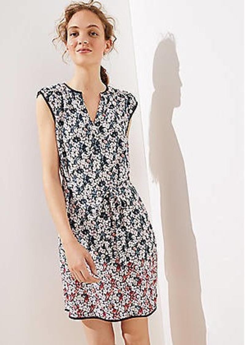 LOFT Garden Split Neck Pocket Dress