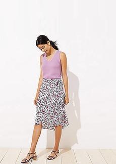 LOFT Garden Wrap Skirt