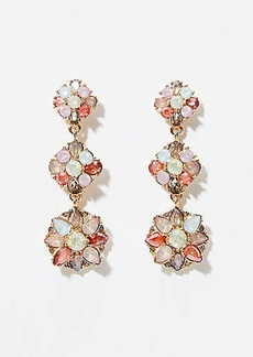 LOFT Gem Cluster Drop Earrings