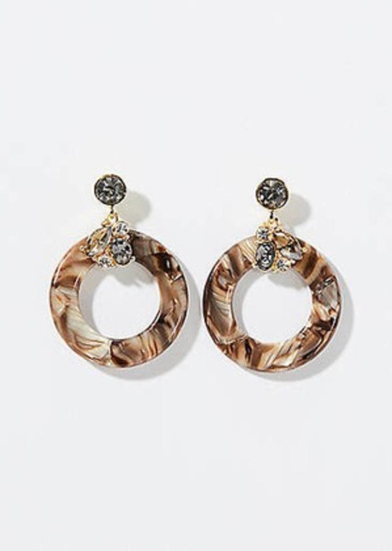 LOFT Gem Cluster Resin Drop Earrings