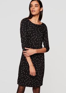 Geo Side Shirred Dress