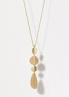 LOFT Geometric Drop Pendant Necklace