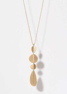 LOFT Geometric Drop Pendant Necklace