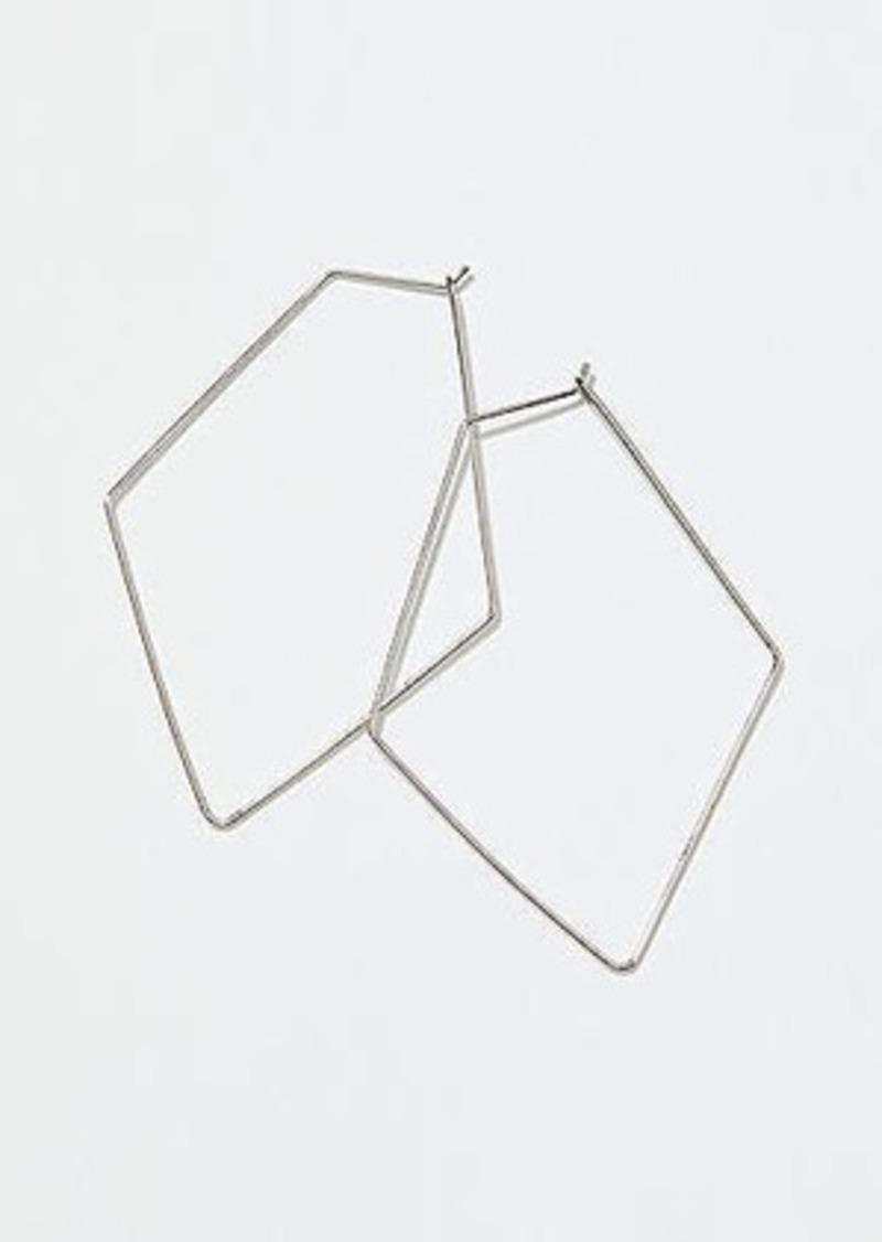 LOFT Geometric Hoop Earrings
