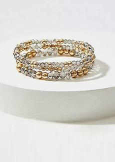 LOFT Gilded Beaded Stretch Bracelet Set