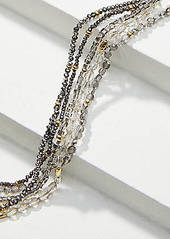 LOFT Gilded Multistrand Beaded Necklace