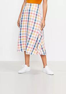 LOFT Gingham Midi Skirt