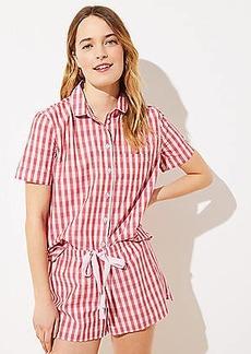 LOFT Gingham Pajama Top