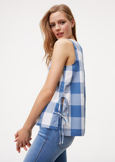 Gingham Side Tie Top