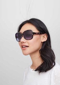LOFT Glam Tortoiseshell Print Square Sunglasses