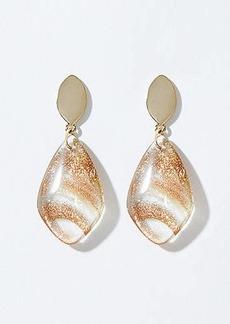LOFT Glitter Drop Earrings