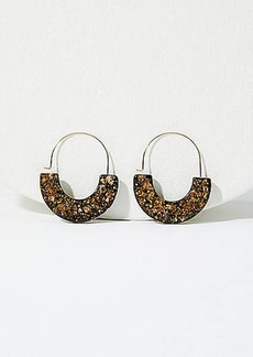 LOFT Glitter Pull Through Hoop Earrings