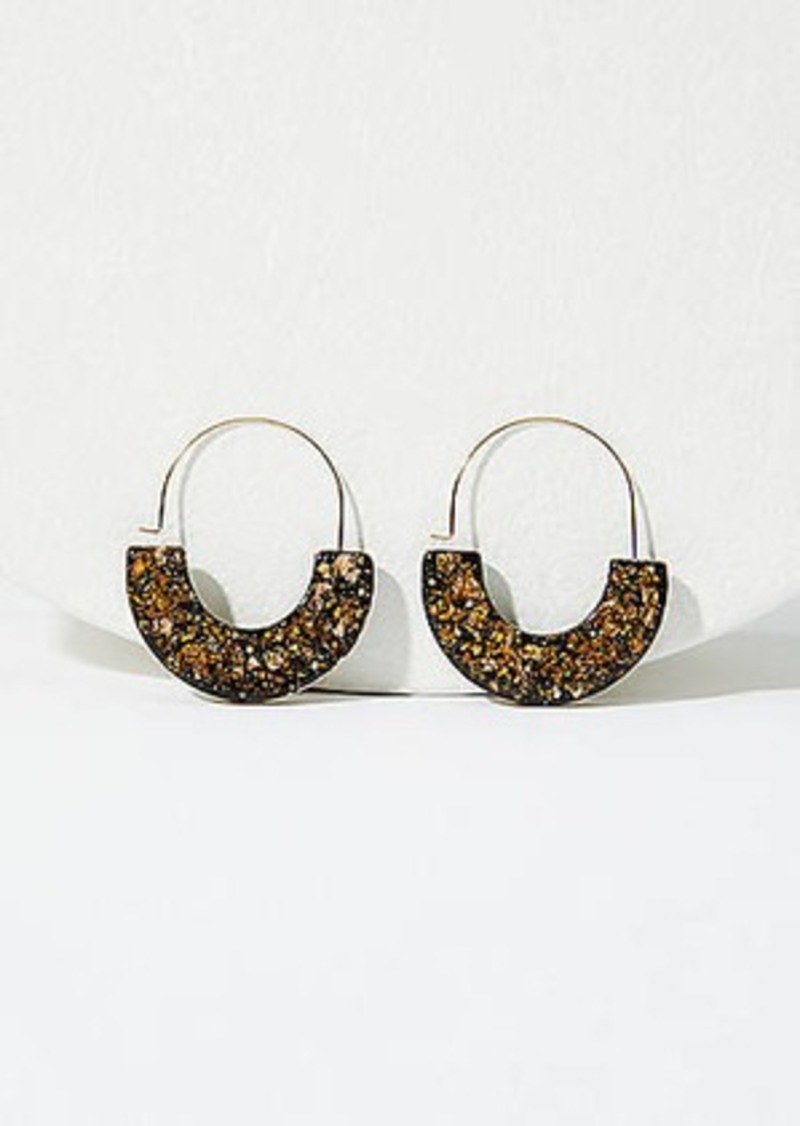 LOFT Glitter Pull Through Hoop Earrings