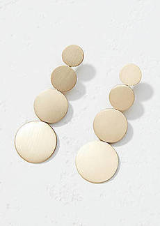LOFT Brushed Circle Drop Earrings